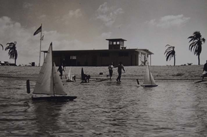 Historical Photo of San Diego Model Yacht Pond